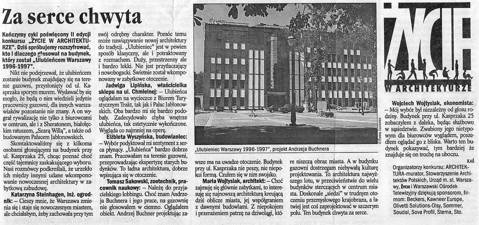 """Za serce chwyta..., """"Życie"""" nr 34, 10.02.1998"""