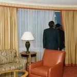 Jury ocenia widok z okien hotelu Sheraton