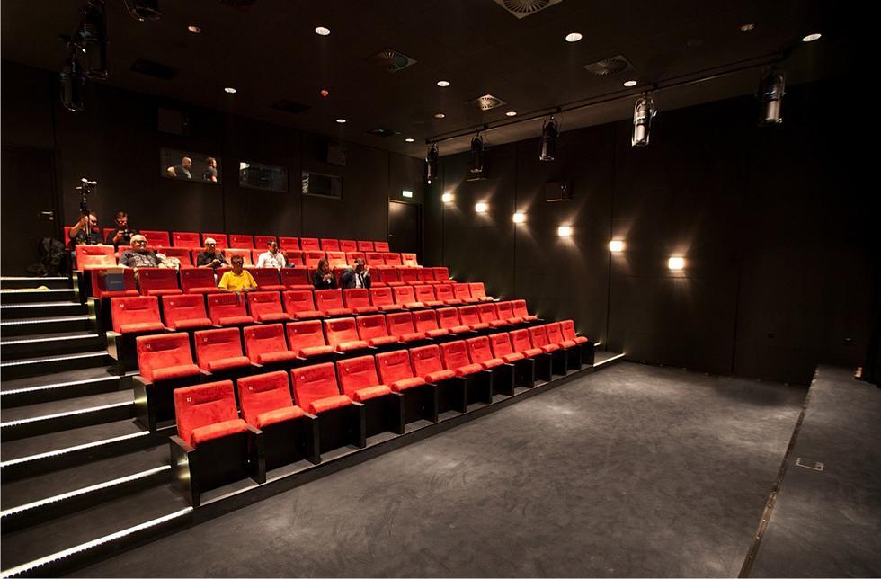 Sala kinowa w Małopolskim Ogrodzie Sztuki