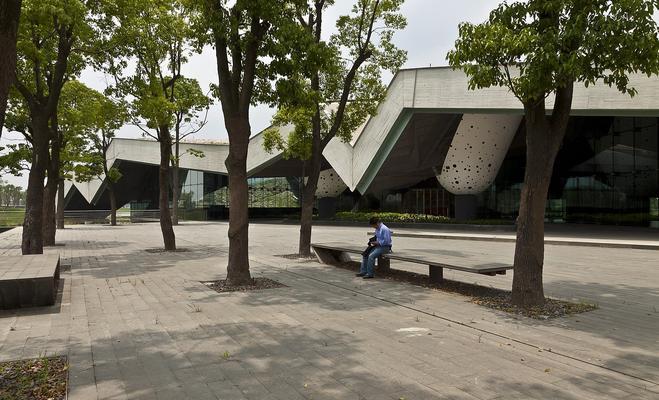 Siedziba firmy Giant wSzanghaju: pod zielonym dachem