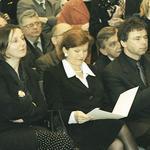 Od lewej: wicedyrektor Departamentu Promocji Twórczości MKiDN Teresa Śmiechowska, Podsekretarz Stanu w MKiDN Anna Popowicz, dyrektor Książnicy Pomorskiej Stanisław Krzywicki