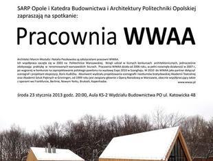 Politechnika Opolska: spotkanie z architektami z pracowni WWAA