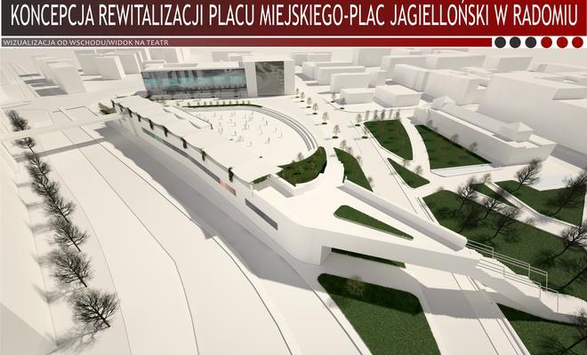 Koncepcja rewitalizacji placu miejskiego-Plac Jagielloński w Radomiu