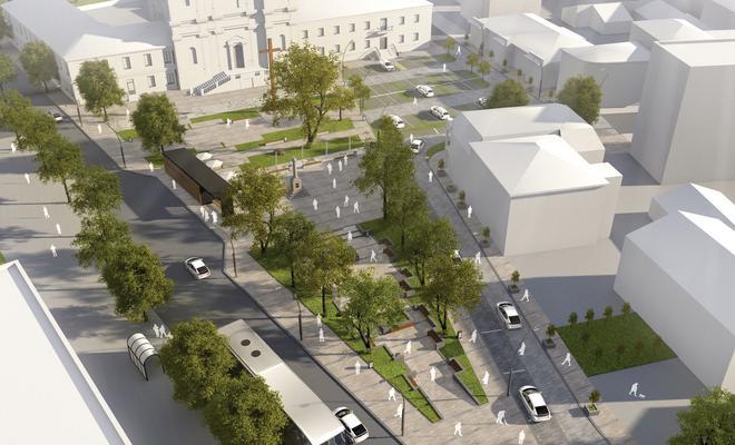 Koncepcja zagospodarowania Placu Narutowicza w Łukowie
