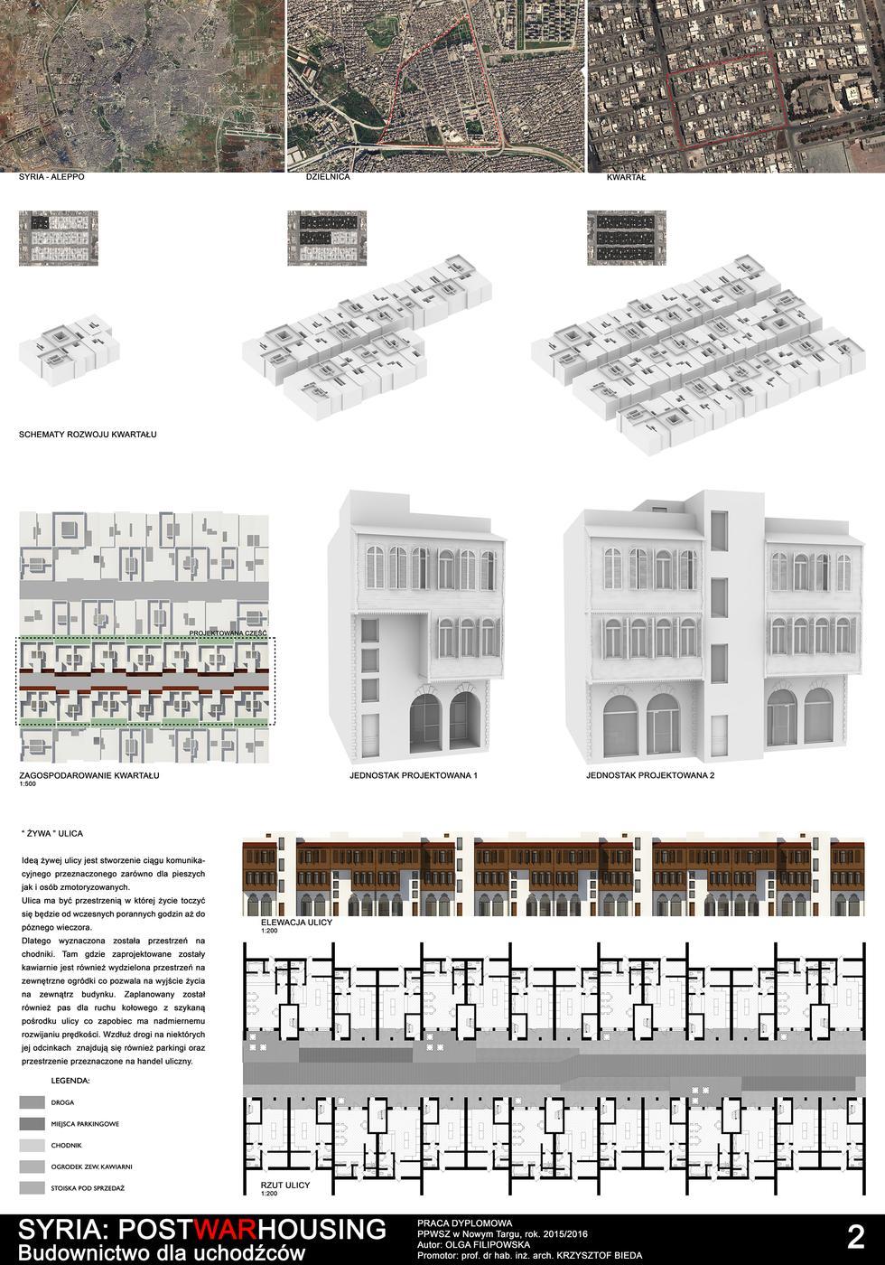 SYRIA: POSTWARHOUSING. Budownictwo dla uchodźców.