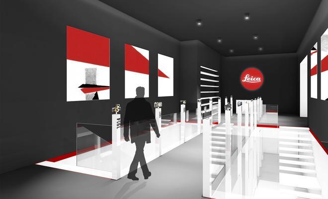 Projekt salonu firmy Leica w Warszawie
