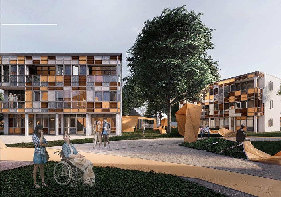 Projekt osiedla socjalnego at-NEW we Wrocławiu