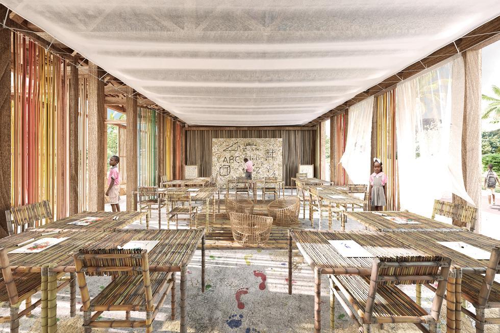 Architektura w obliczu katastrof. Modelowe kształtowanie zabudowy wiejskiego zespołu szkolnego na Haiti.