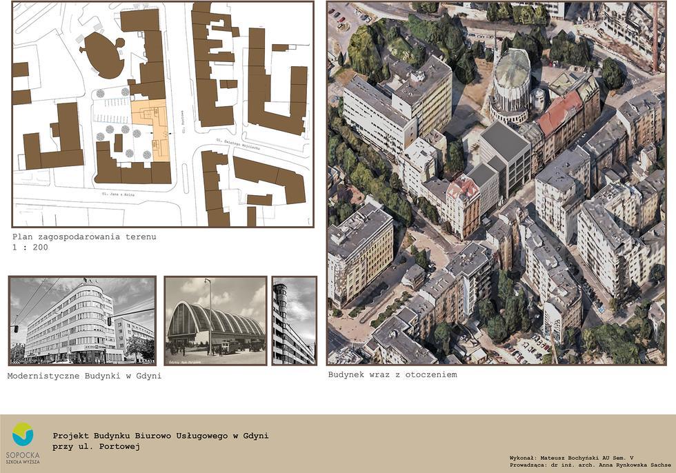 Projekt budynku biurowo-usługowego w Gdyni