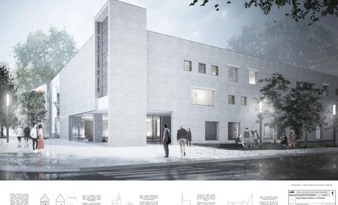 Projekt nowej siedziby Ratusza Dzielnicy Żoliborz w Warszawie